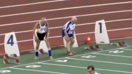 100 Meter Sprint Ü90