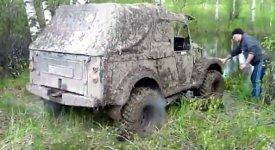 4x4 Auto waschen