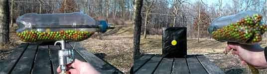 Airsoft Machine Gun from a Soda Bottle, Plastikflasche, Druckluft