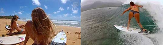 Alana Blanchard, surfen