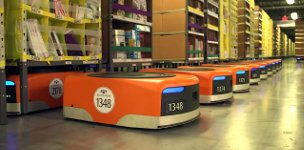 Amazon Logistikzentrum Roboter