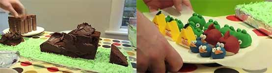 Angry Birds, Rezept, Bauanleitung, Kuchen, Cake, Figuren