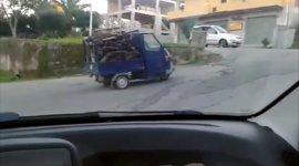 Holztransporter Piaggio