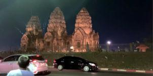 Feuerwerk Affen Thailand