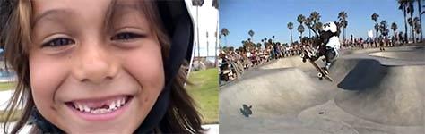 Asher Bradshaw, Skateboarding, 6 Jahre