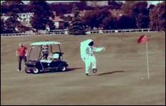 astronaut, golfplatz
