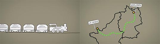 Atommüll, Fukushima, Kartoffelscheune