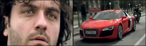 Audi R8 in Maranello