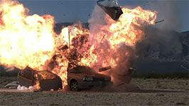 Stuntbusters, car Explosion, 1000 FPS