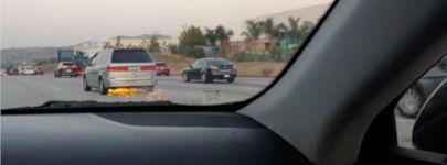 Autobahn PKW Motorrad Crash