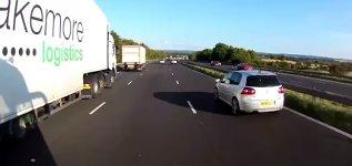 Autobahn Vollbremsung