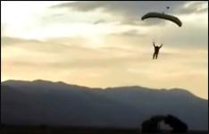 Fallschirm, skydiving, landung, landing