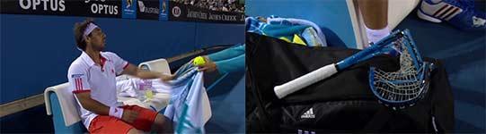 Marcos Baghdatis, Wutausbruch, Tennisschläger