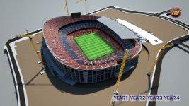 Barcelona Camp Nou Stadionausbau