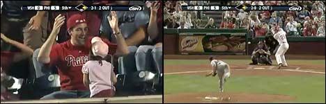baseball, gefangen geworfen