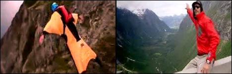 basejump, fliegen, fallschirmspringen, tandemsprung