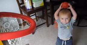 Basketball Trick Shot Kid