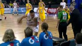 Basketball Korb, unglaublicher Wurf