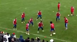 Bayern Training One Touch Football