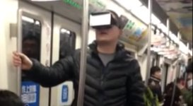 Virtual-Reality-Brille Ubahn
