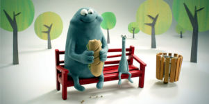 'Bench Animation Teilen Sharing