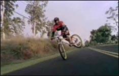 bike, bergab, freak
