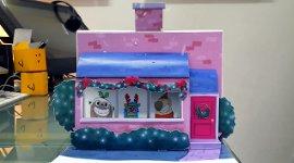 Birdbox 3D-Popup Weihnachtskarte