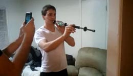 blow dart gun, warum, hand