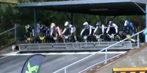 bmx race, start, faceplant, fail