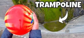 BOWLING BALL Vs. TRAMPOLINE