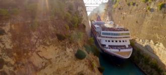 Kreuzfahrtschiff MS Braemar Kanal von Korinth