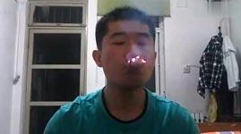 Zigaretten schlucken