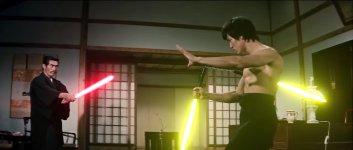 Bruce Lee Laserschwert Nunchaku