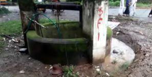 Brunnen versinkt sinkhole