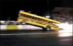 bus, dragster, rennen, duell, speed