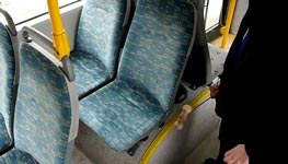 bus, sitz, dreck, staub, schmutz