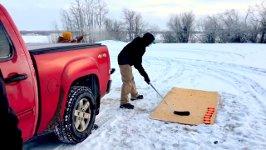 Kanada Eishockey Tontaubenschießen