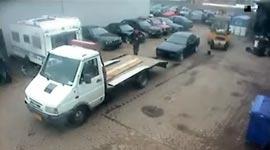 Auto verladen, Fail