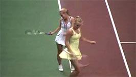 Caroline Wozniacki, Dominika Cibulkova, dancing