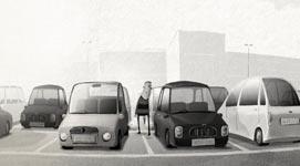 Carpark, Parkplatz, Hund, Auto