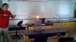 Chemie-Experiment, Explosion