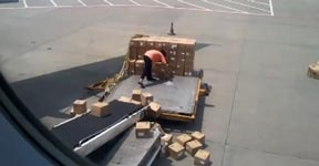 China Air-Freight Handlers at Guangzhou Airport - No Care Policy