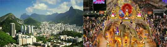Tilt shift of the Carnaval party in Rio de Janeiro