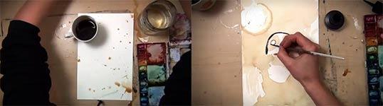 Coffee Panda, timelapse, Kaffee-Kunst