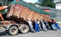 Container LKW schwer