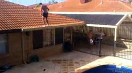 Crazy Backflip Pool Jump