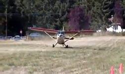 crazy plane takeoff