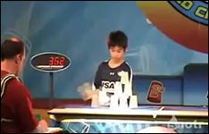 cup stacking kid