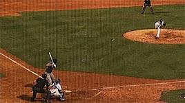baseball fangen, kind auf dem arm