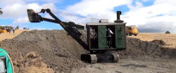 Dampfmaschinenbagger